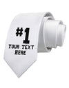 Personalized Number 1 Printed White Necktie