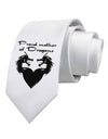 Proud Mother of Dragons Printed White Necktie