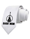 Bass Mom - Mother's Day Design Printed White Necktie