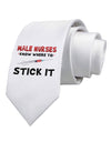 Male Nurses - Stick It Printed White Necktie