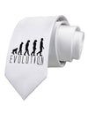 Evolution of Man Printed White Necktie