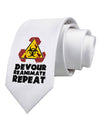 Devour Reanimate Repeat Printed White Necktie