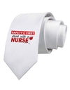 Drink With A Nurse Printed White Necktie