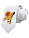 Bro Chick Printed White Neck Tie Tooloud