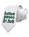 Home Sweet Home - California - Cactus and State Flag Printed White Necktie