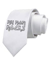 My Mom Rocks - Mother's Day Printed White Necktie