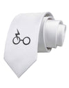 Magic Glasses Printed White Necktie