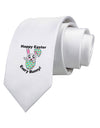 Happy Easter Every Bunny Printed White Necktie
