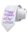 Happy Mother's Day (CURRENT YEAR) Printed White Necktie