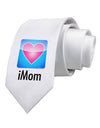 iMom - Mothers Day Printed White Necktie
