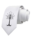 The Royal White Tree Printed White Necktie