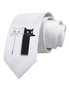 Longcat and Tacgnol - Internet Humor Printed White Necktie