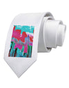 Chicago Abstract 2 Watercolor Printed White Necktie