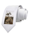 Stone Tree Colorado Printed White Necktie