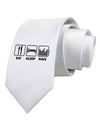 Eat Sleep Rave Printed White Necktie