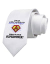 Architect - Superpower Printed White Necktie