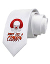 Down Like a Clown Printed White Necktie