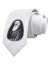 Charles Darwin Black and White Printed White Necktie