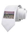 Ute Park Colorado Printed White Necktie