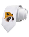Disgruntled Cat Wearing Turkey Hat Printed White by