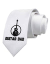 Guitar Dad Printed White Necktie