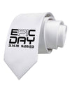 Epic Pi Day Text Design Printed White Necktie