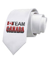 Sporty Team Canada Printed White Necktie