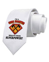 Fire Fighter - Superpower Printed White Necktie