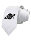 Sci-Fi Mom - Mother's Day Design Printed White Necktie