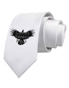 Crows Before Hoes Design Printed White Necktie