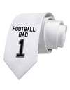 Football Dad Jersey Printed White Necktie