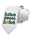 Home Sweet Home - New Mexico - Cactus and State Flag Printed White Necktie
