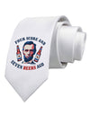 Seven Beers Ago - Lincoln Printed White Necktie