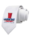 Labor Day - Cheers Printed White Necktie