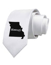 Missouri - United States Shape Printed White Necktie