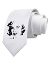 Marilyn Monroe Cutout Design Printed White Necktie
