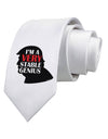 I'm A Very Stable Genius Printed White Necktie