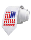 Beer Pong Flag Printed White Necktie