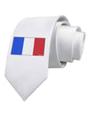 French Flag - France Printed White Necktie
