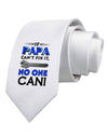 If Papa Can't Fix It Printed White Necktie