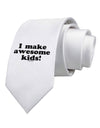 I Make Awesome Kids Printed White Necktie