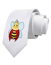 Queen Bee Mothers Day Printed White Necktie