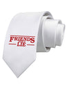 Friends Don't Lie Printed White Necktie
