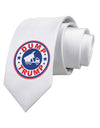 Dump Trump Anti-Trump Printed White Necktie