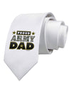 Proud Army Dad Printed White Necktie