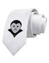Cute Pixel Vampire Male Printed White Necktie