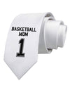Basketball Mom Jersey Printed White Necktie