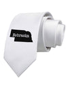 Nebraska - United States Shape Printed White Necktie