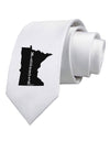 Minnesota - United States Shape Printed White Necktie