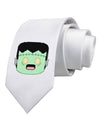 Cute Pixel Monster Printed White Necktie